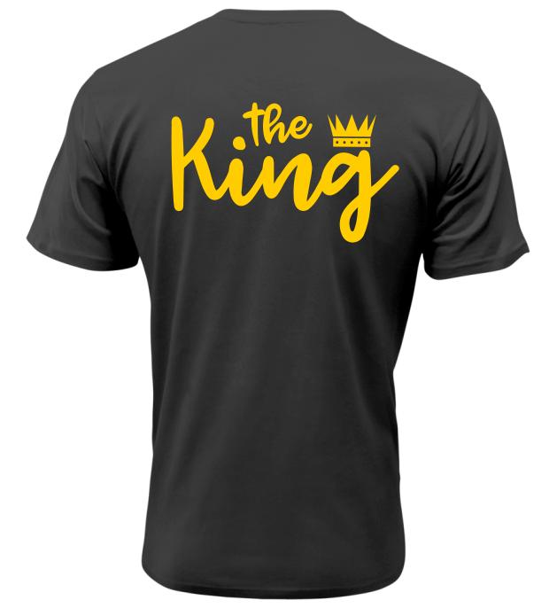 Pánské tričko The King černé