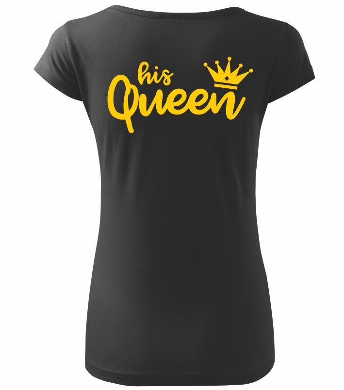 Dámské tričko His Queen černé