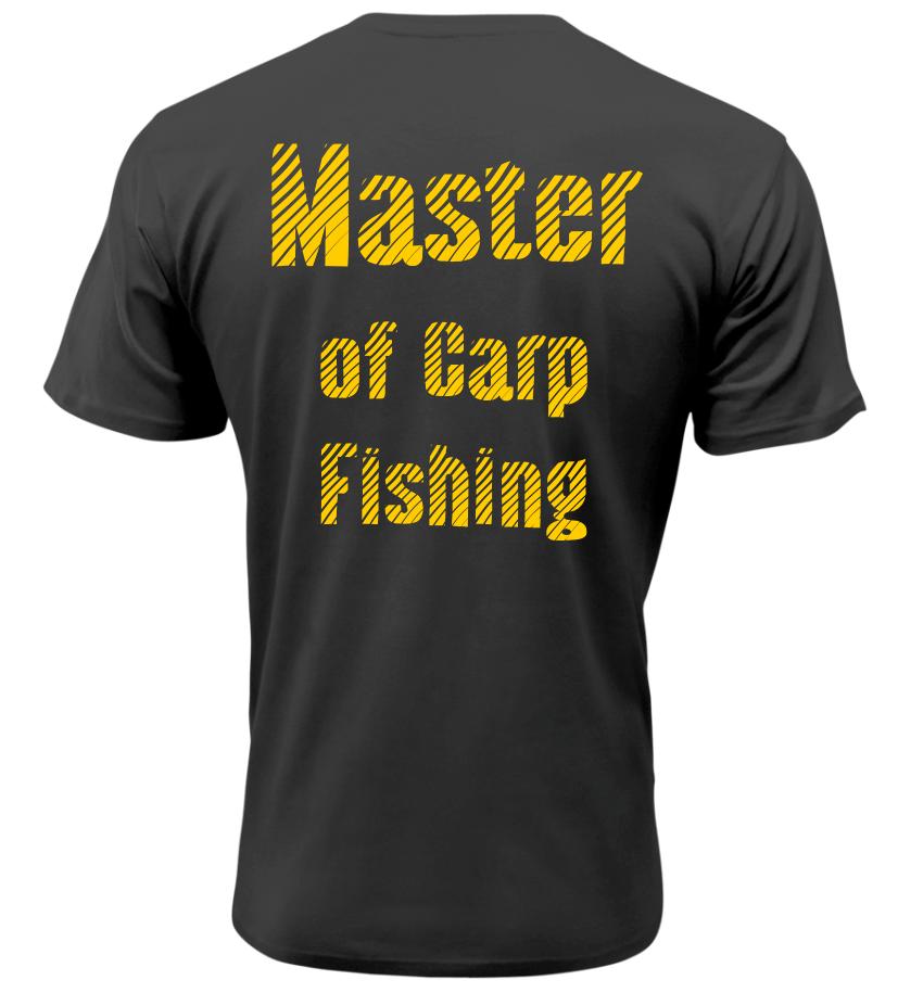 Pánské tričko pro rybáře Master of Carp Fishing černé