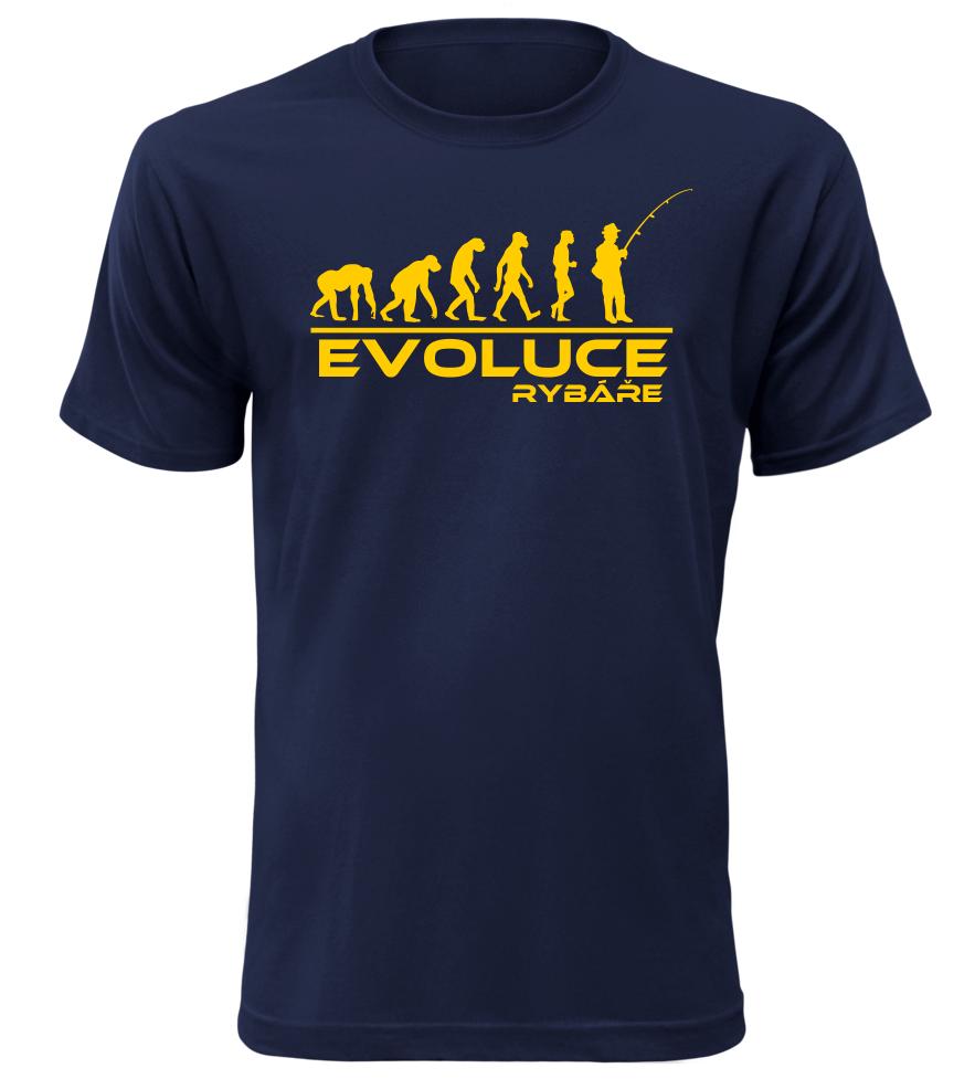 Pánské tričko evoluce rybáře navy