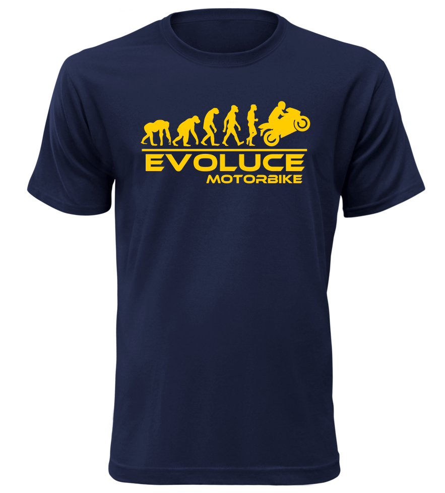 Pánské tričko evoluce motorbike navy
