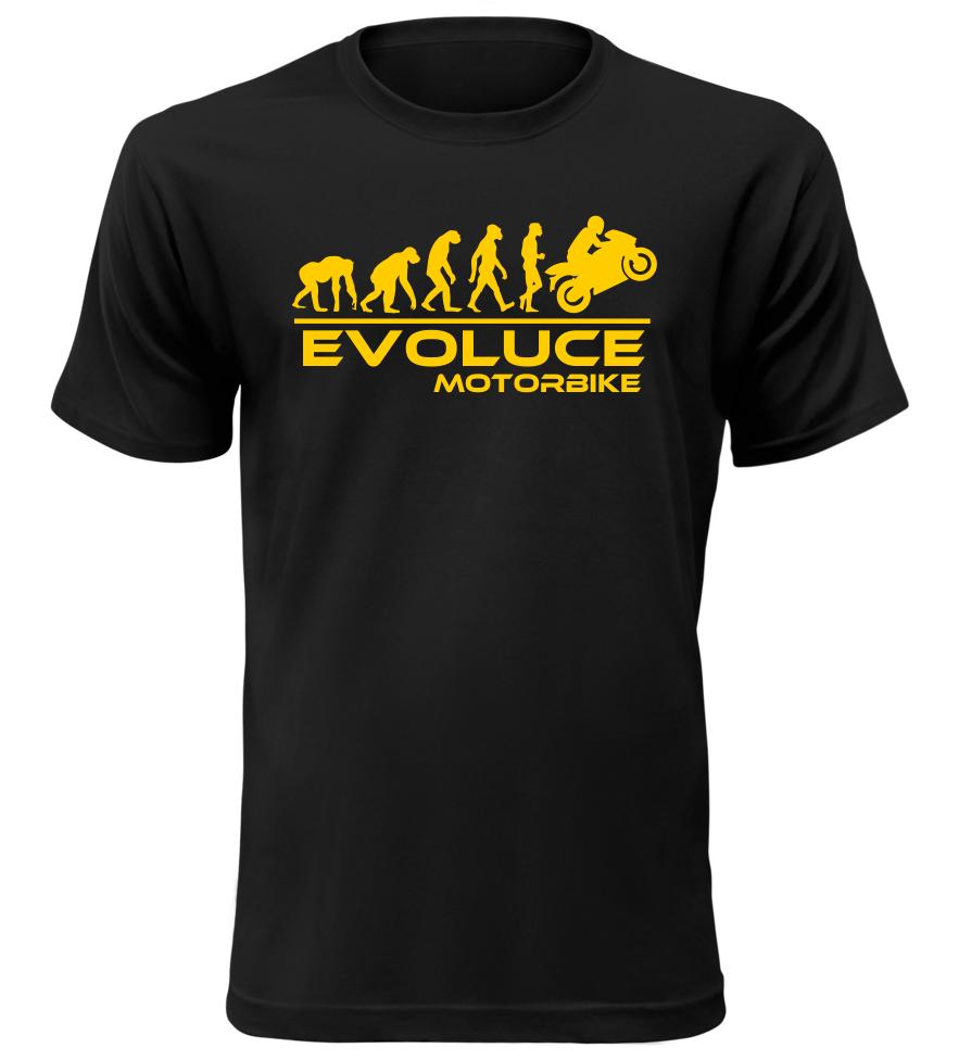 Pánské tričko evoluce motorbike černé