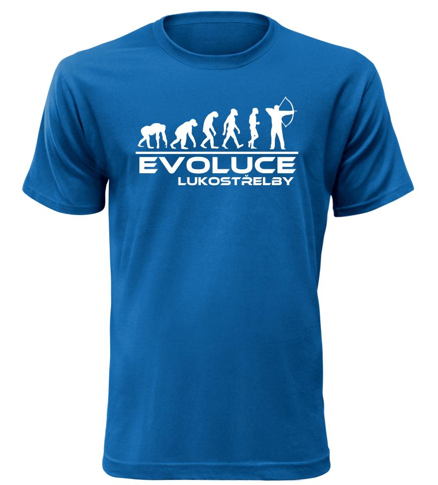 Pánské tričko evoluce lukostřelby modré