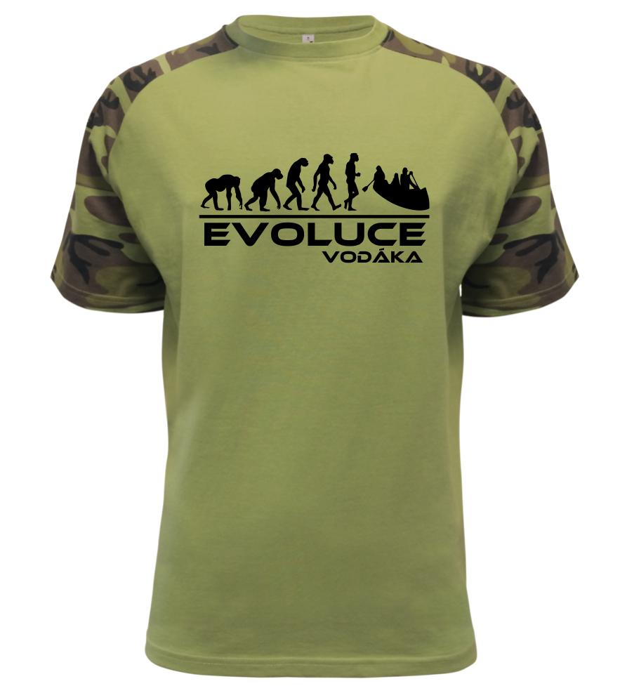 Pánské tričko evoluce vodáka military