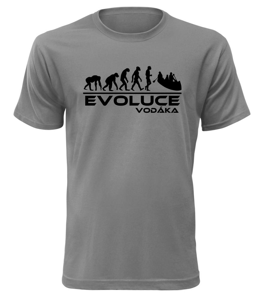 Pánské tričko evoluce vodáka šedé