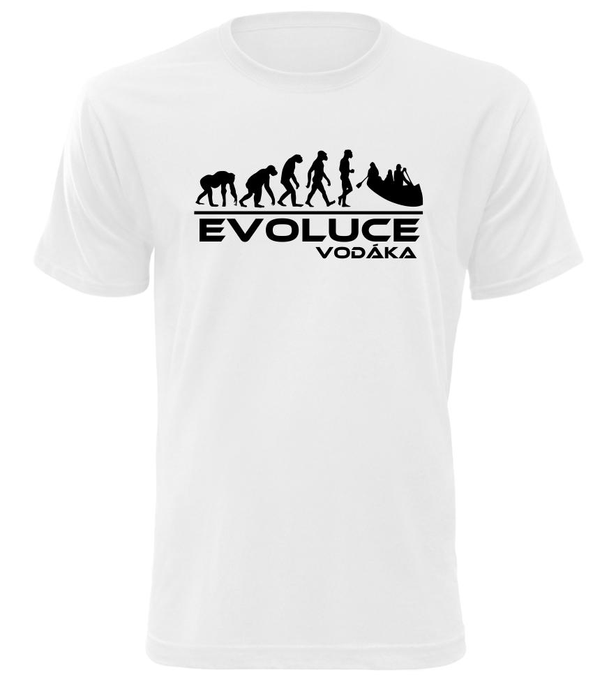 Pánské tričko evoluce vodáka bílé