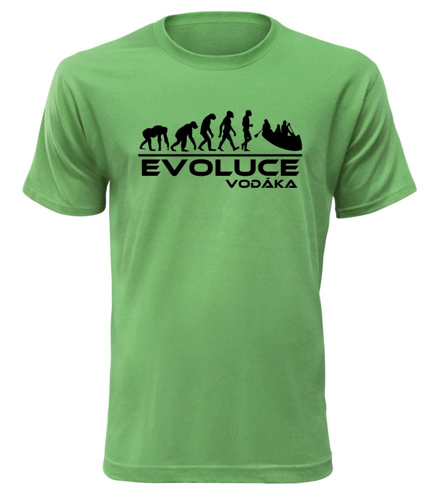 Pánské tričko evoluce vodáka zelené