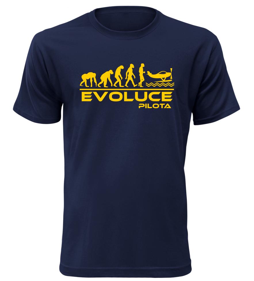 Pánské tričko evoluce pilota navy