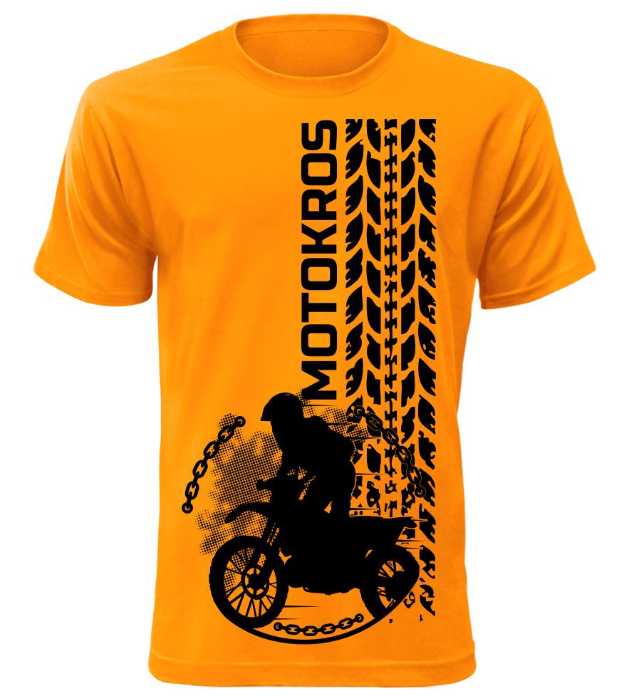 ca5d6d7f96f0 Pánské tričko Motokros oranžové