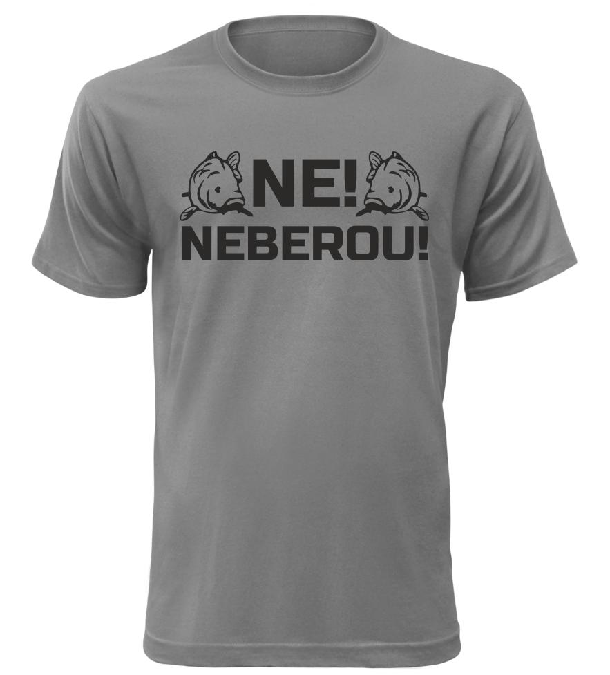 Pánské rybářské tričko Neberou šedé