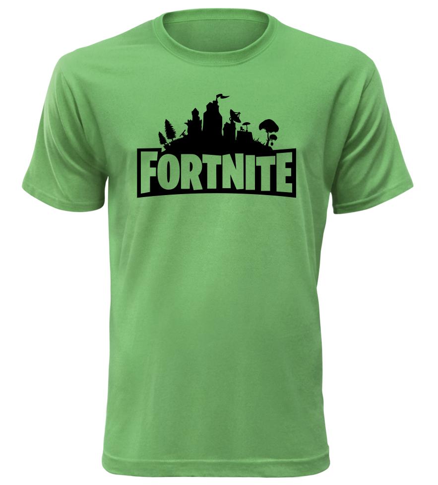 Herní tričko Fortnite zelené