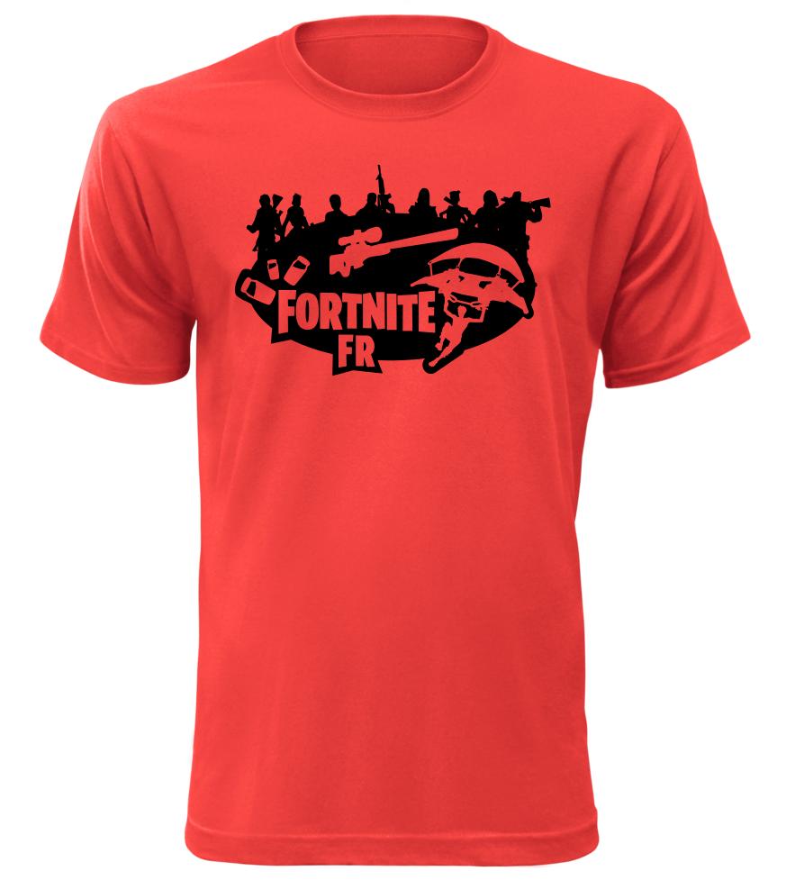 Tričko pro hráče Fortnite FR červené