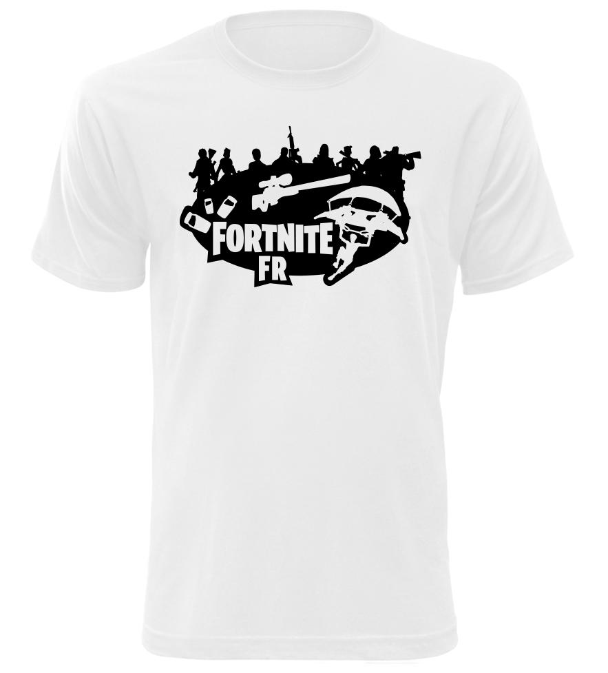 Tričko pro hráče Fortnite FR bílé  98561e7ed4