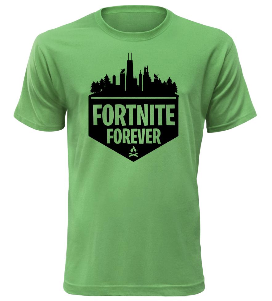 Herní tričko Fortnite Forever zelené