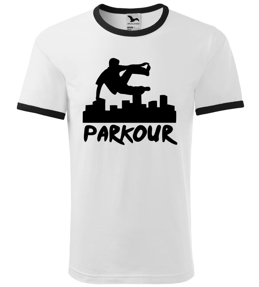 Pánské a dětské tričko Parkour originál bílé