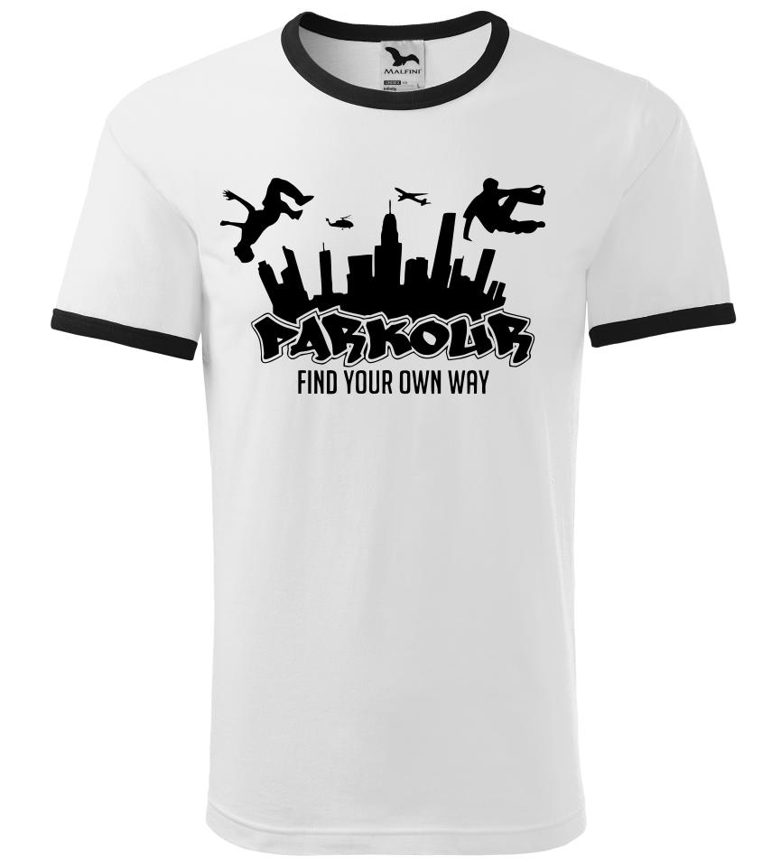 Pánské a dětské tričko Parkour find bílé