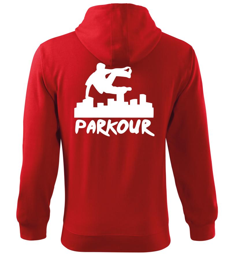 Pánská a dětská mikina Parkour originál červená