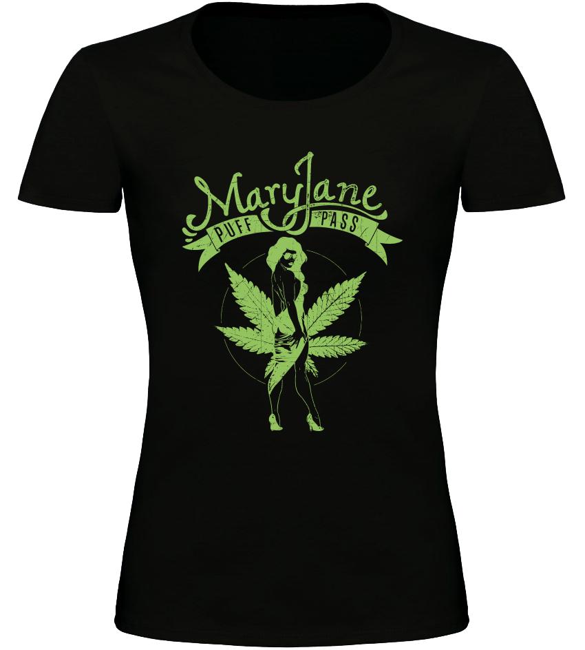 Mary Jane dámské tričko černé