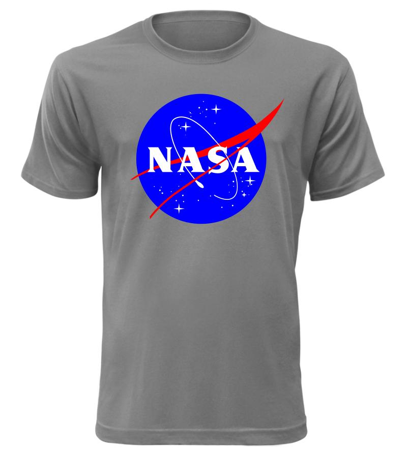 ce9f30badb08 Pánské tričko NASA šedé