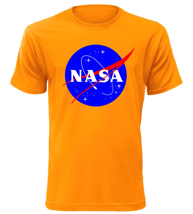 c6086e2e2 Pánské tričko NASA oranžové | Kvalitní trička s potiskem
