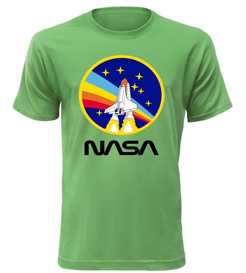 Pánské tričko Challenger NASA zelené