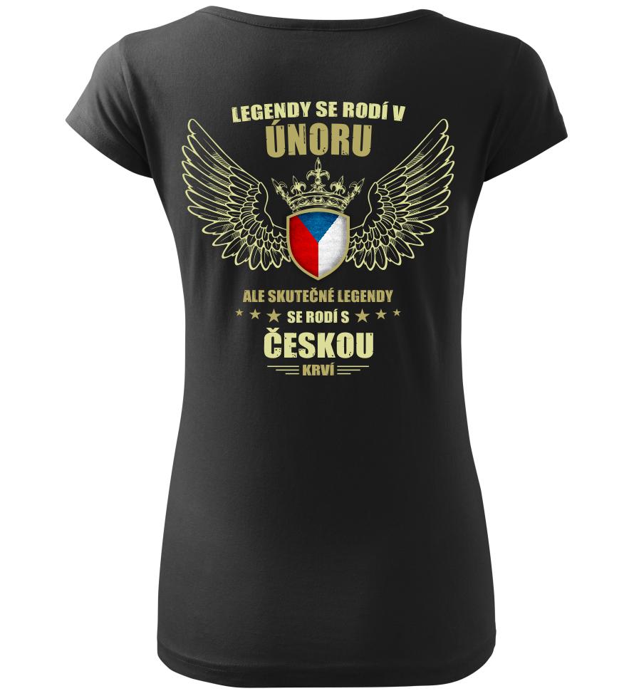 Dámské tričko zrození legendy v Únoru černé