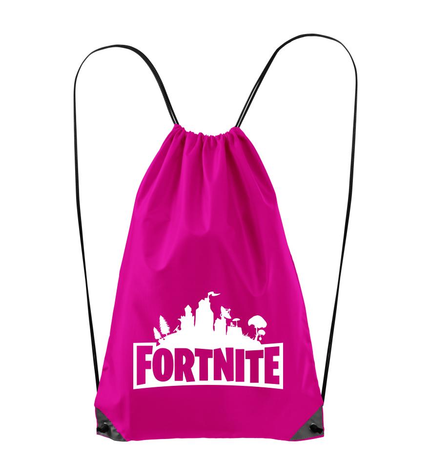 Batoh s potiskem Fortnite růžový
