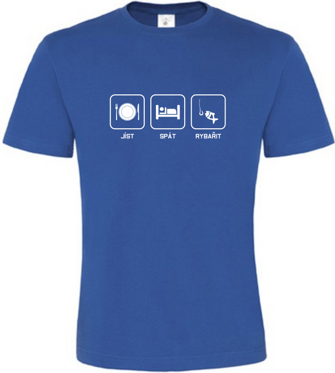 Pánské rybářské tričko Co mě baví modré
