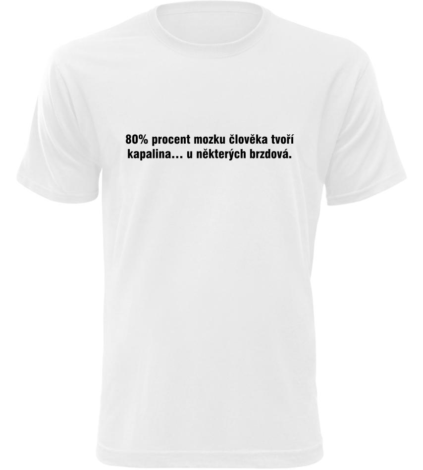 Pánské vtipné tričko Brzdová kapalina bílé
