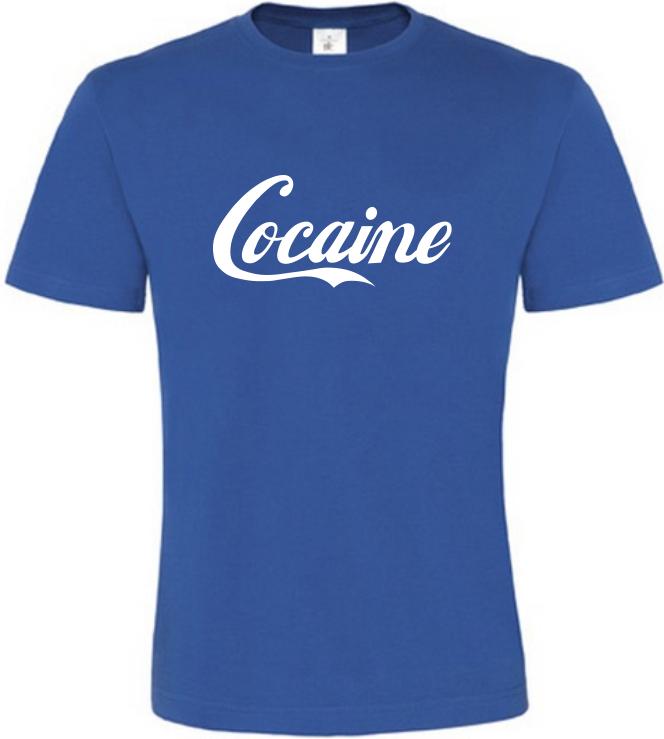 Pánské vtipné tričko Cocaine modré
