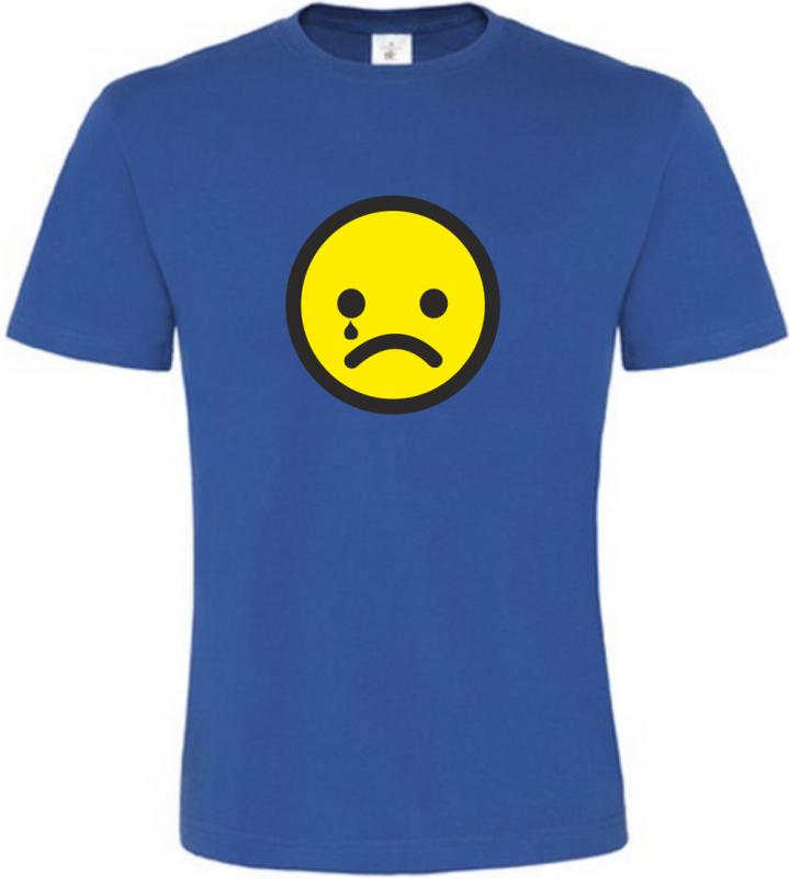 Pánské tričko smajlík pláče