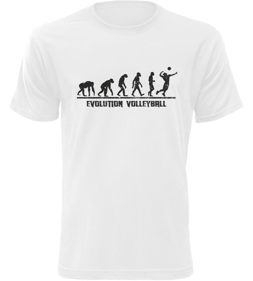 Evolution Volleyball pánské bílé tričko