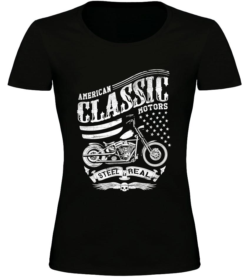 Dámské tričko American Classic Motors černé