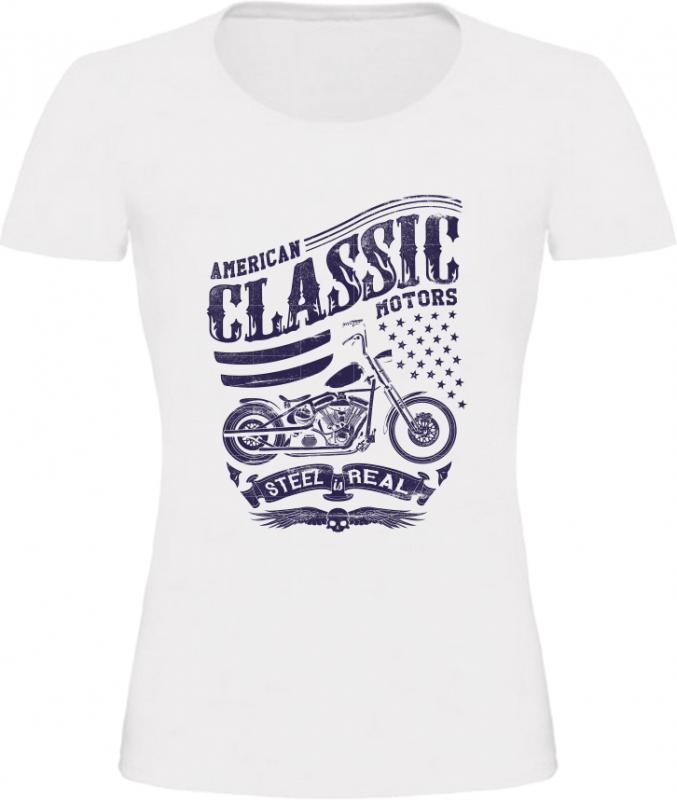 Dámské tričko American Classic Motors bílé