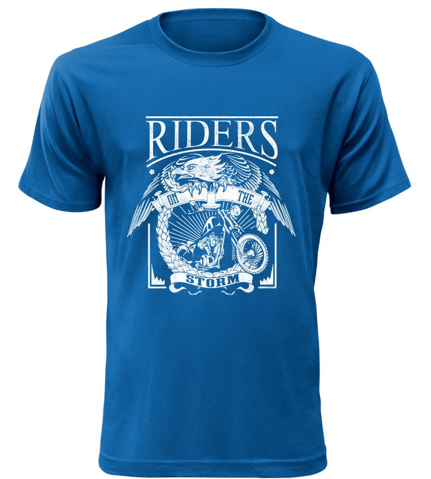 RIDERS modré motorkářské tričko pánské
