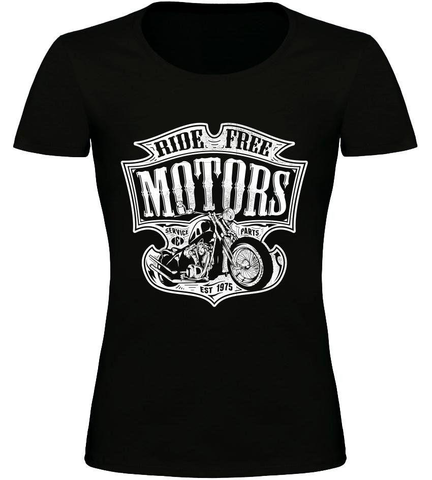 4ff584a2eddc Dámské motorkářské tričko Ride Free Motors černé