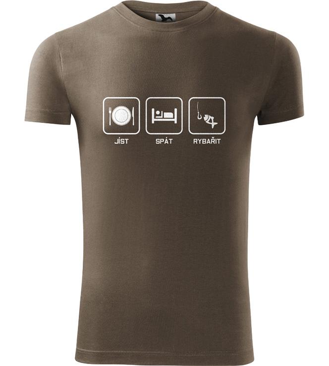 Pánské rybářské tričko Co mě baví army