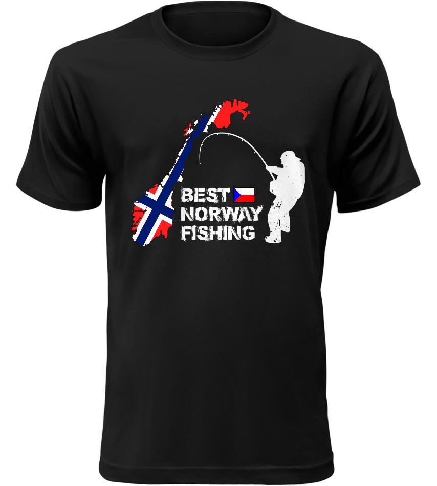 Pánské rybářské tričko Best Norway černé