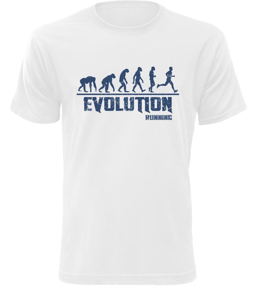 Pánské tričko Evolution Running bílé