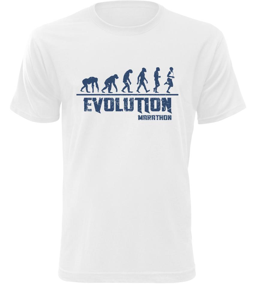 Pánské tričko Evolution Marathon bílé