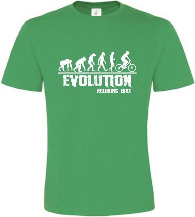 Pánské tričko Evolution Relaxing Bike zelené