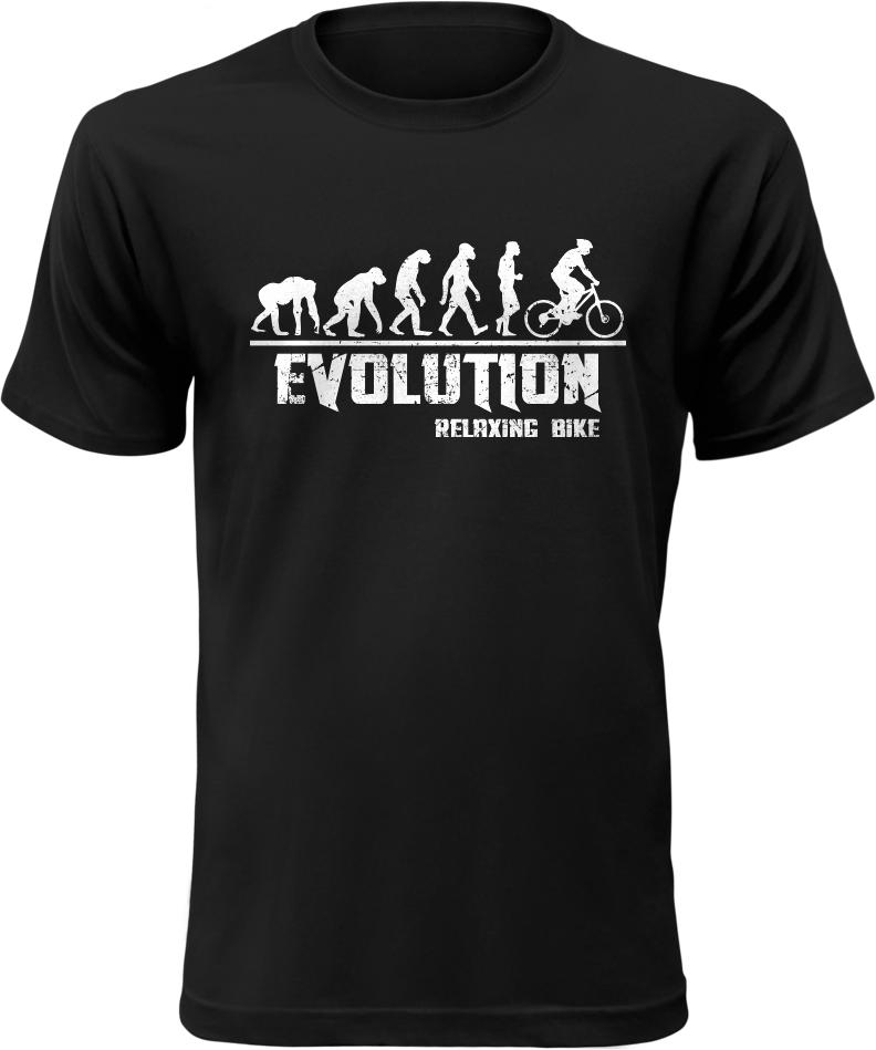 Pánské tričko Evolution Relaxing Bike černé