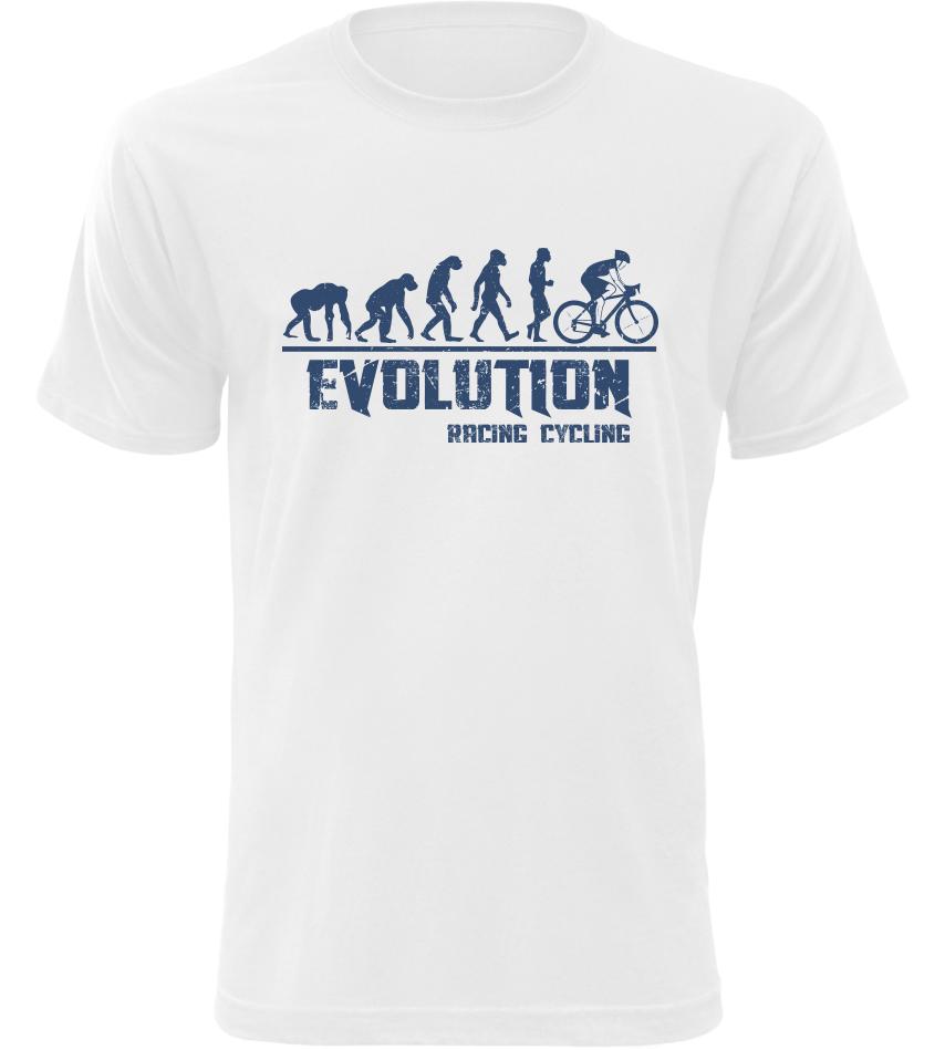 Pánské tričko Evolution Racing Cycling bílé