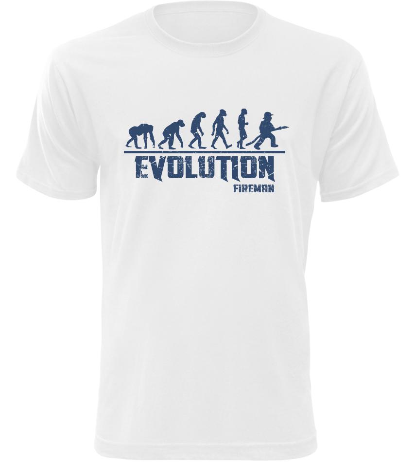 Pánské tričko Evolution Fireman bílé