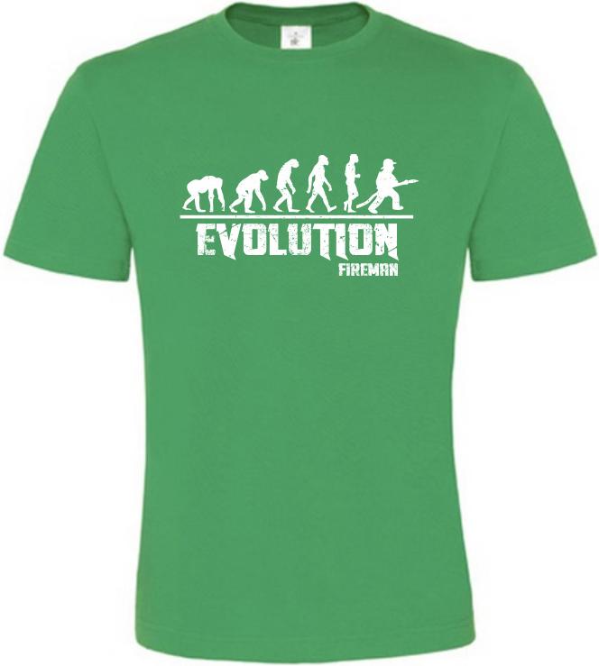 Pánské tričko Evolution Fireman zelené