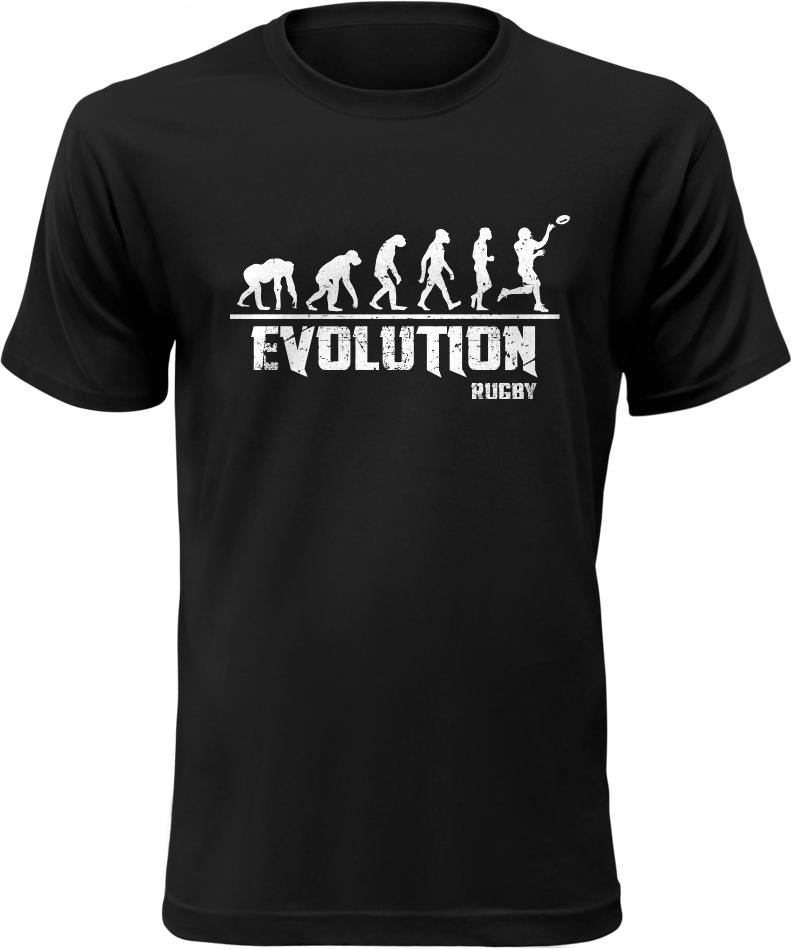 Pánské tričko Evolution Rugby černé  f9347fec33