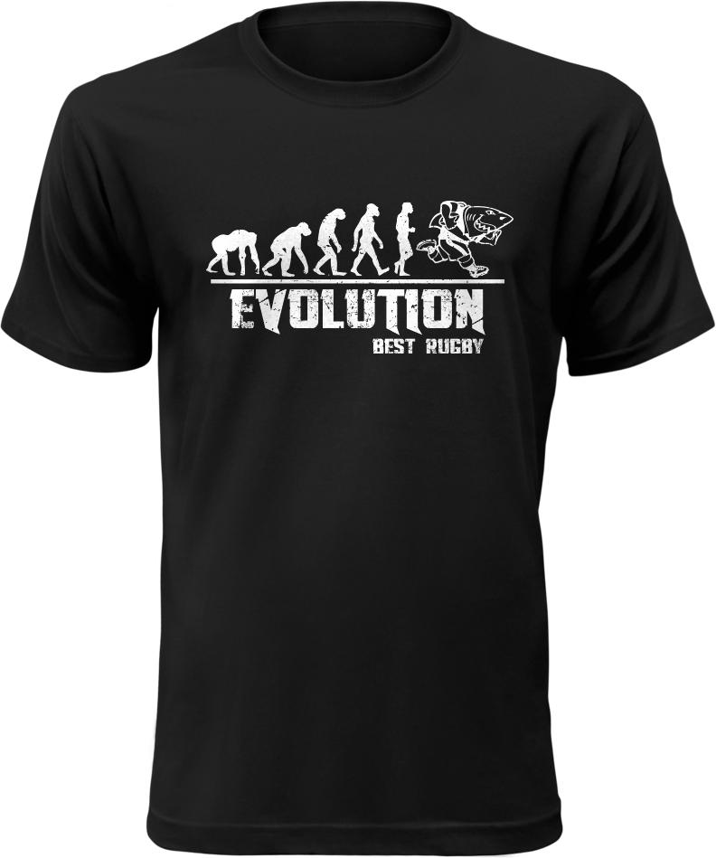 Pánské tričko Evolution Best Rugby černé