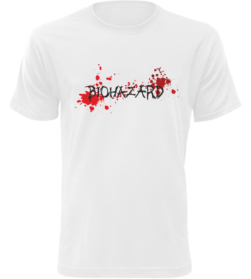 Pánské tričko Biohazard bílé