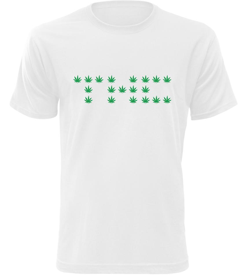 Pánské tričko THC bílé