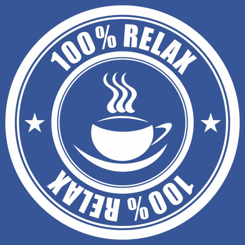 100% Relax Coffee modré tričko